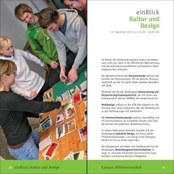 einBlick Kultur und Design - Konservierung und Restaurierung ...