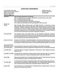 Curriculum Vitae - Krieger School of Arts & Sciences - Johns ...