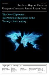 International Relations in the Twenty-First Century - Krieger School ...