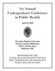 1st Annual Undergraduate Conference in Public Health