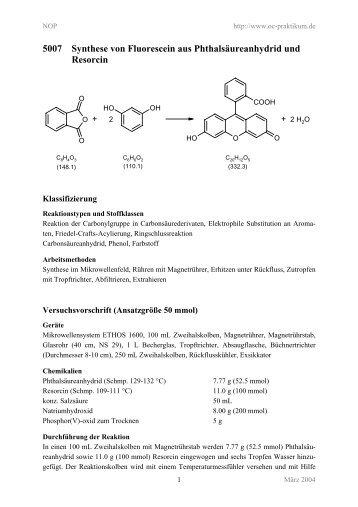 5007 Synthese von Fluorescein aus ... - kriemhild