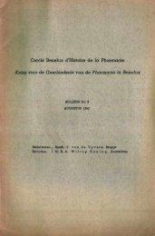 1952-003 geschiedenis/histoire pharmacie - Kringgeschiedenis