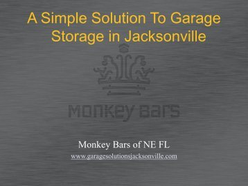 A Simple Solution To Garage Storage In Jacksonville