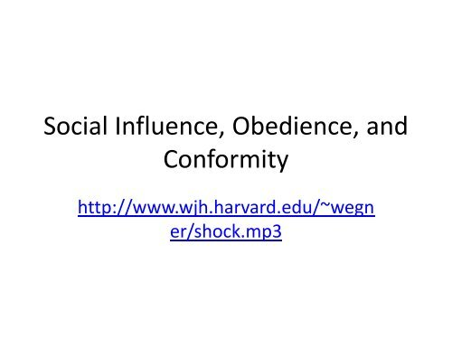 what is the difference between obedience and conformity