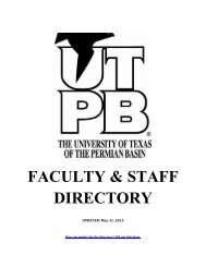 Faculty & Staff Directory - To Parent Directory