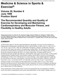 The Recommended Quantity and Quality of Exercise for Developing ...