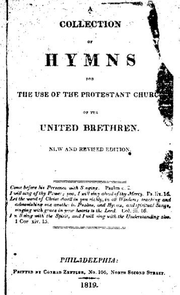 Christian Gregor - Choral-Buch (1784). - To Parent Directory