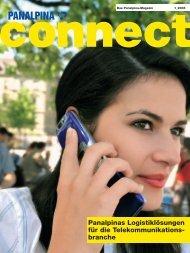 Panalpinas Logistiklösungen für die Telekommunikations- branche
