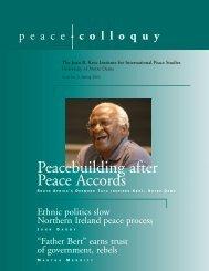 Spring 2004 - Kroc Institute for International Peace Studies ...