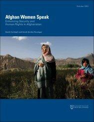 Afghan Women Speak - Kroc Institute for International Peace ...