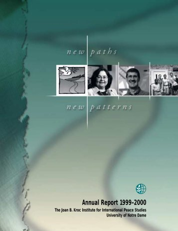 1999-2000 - Kroc Institute for International Peace Studies ...