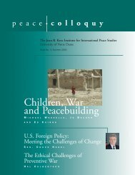 Summer 2003 - Kroc Institute for International Peace Studies ...
