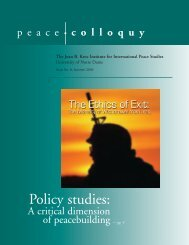Colloquy Issue 8 - Kroc Institute for International Peace Studies ...