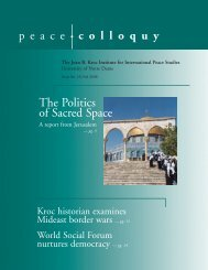 Fall 2006 - Kroc Institute for International Peace Studies - University ...