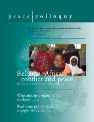 Link - Kroc Institute for International Peace Studies - University of ...