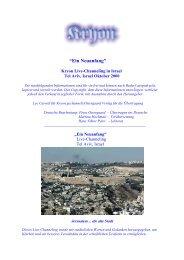 Kryon in Israel - Tel Aviv