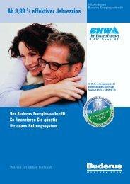Der Buderus Energiesparkredit - Kruse GmbH