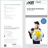 ERASMUS Mundus Optics & Photonics Flyer - Karlsruhe School of ...