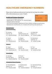 Health Care & Emergency Numbers - KIT