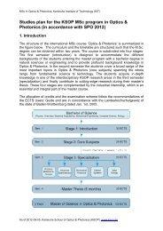 Studies plan - Karlsruhe School of Optics & Photonics - KIT