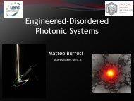 Engineered-Disordered Photonic Systems - Karlsruhe School of ...
