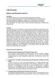 Lab Descriptions - Karlsruhe School of Optics & Photonics - KIT