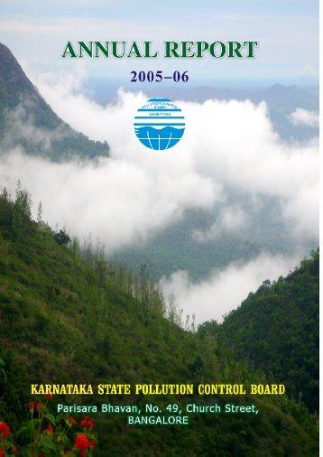 Annual Report 2005-06 - Karnataka State Pollution Control Board