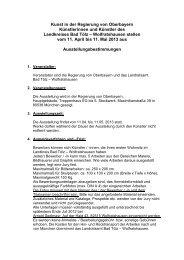 Kunst in der Regierung von Oberbayern Künstlerinnen und Künstler ...