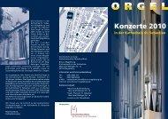 Konzerte 2010 in der Kathedrale St. Sebastian - Kukma.net