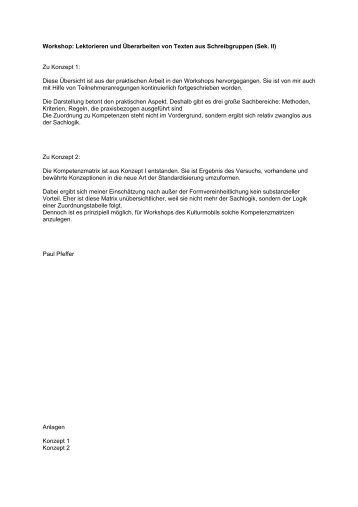 Kompetenzmatrix: Lektorieren und Überarbeiten von Texten - Hessen