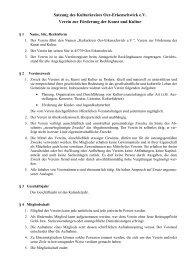 Satzung des Kulturkreises Oer-Erkenschwick e.V. Verein zur ...