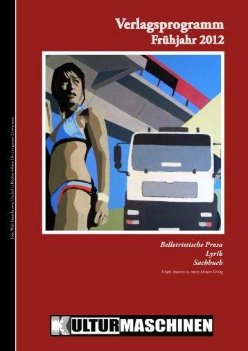 Verlagsprogramm - Kulturmaschinen
