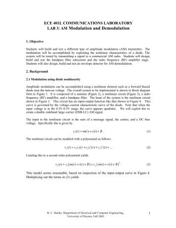 frequency modulation and demodulation lab manual