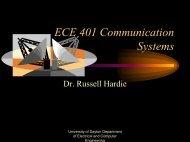 ECE 401 Communication Systems - University of Dayton : Homepages