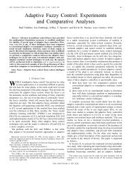 Adaptive Fuzzy Control: Experiments And Comparative Analyses ...