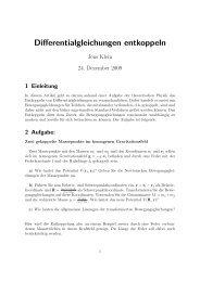 Neu: Differentialgleichungen entkoppeln - Kulturserver