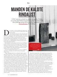 MANDEN DE KALDTE RINDALIST - Kulturministeriet