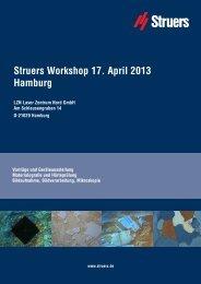 Struers Workshop 17. April 2013 Hamburg - Apsis