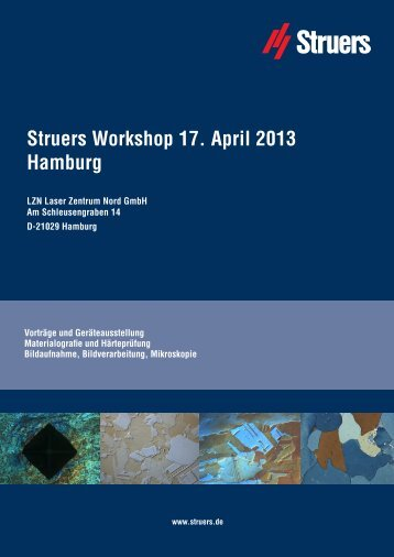 Struers Workshop 17. April 2013 Hamburg - Apsis