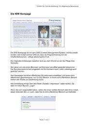 anmelden - WW-Homepage