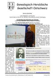 Genealogisch-Heraldische Gesellschaft Ostschweiz