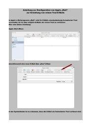 zur Erstellung von reinen Text E-Mails