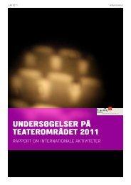 Rapport om internationale aktiviteter - Kulturministeriet