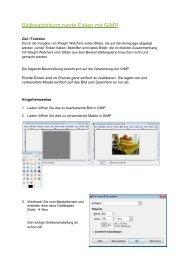 Bildbearbeitung runde Ecken mit GIMP - WW-Homepage
