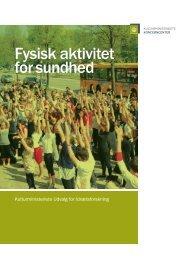 Fysisk aktivitet for sundhed - Kulturministeriet