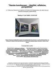 """Danske kunstmuseer – identitet, refleksion, perspektiver"""""""