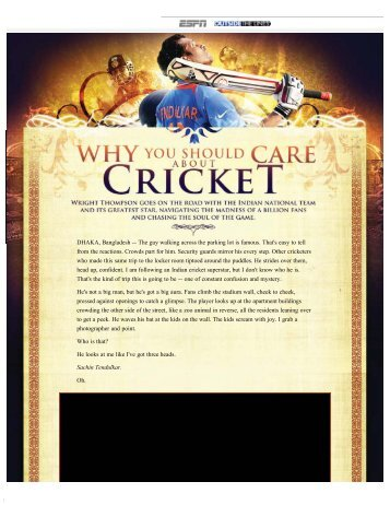 ESPN - Why You Should Care About Cricket