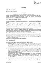 Dateidownload der Vereinssatzung - Kunstgriff eV