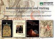 Bücherpräsentation und Vortrag - Institut für Kunstgeschichte ...