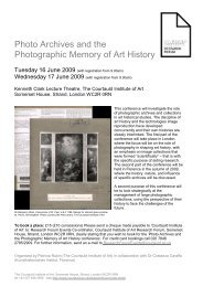 Photo Archives and the Photographic Memory of Art History
